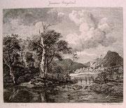 0781/ Radierung,~1900, Jaques Ruysdael, Gouchard/Delarne, 22x18cm, EUR 15,-