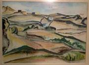 0158/Span.Landschaft, 1958, sign. Kossak, Rahmen 60x48cm, EUR 85,-