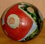 0802/ Keramikvase 1980, Isa Trense (Zertifikat), H 19cm, EUR 60,-