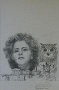 2369/ Bleistift, 1985, sign. P.Schadw., 27x42cm, EUR 40,-
