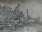 2279/ Bleistift, 1983, Amsterdam, sign.P. Schadwinkel, Motiv 33x25cm, EUR 45,-
