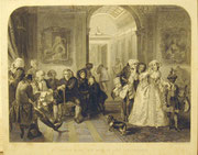 1222/ Stich nach E.M.Edward, Dr. Johnson in the ante-room of Lord Chesterfield, C.W.Sharpe, 23x28cm, EUR 20,-