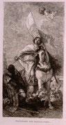 0762/ Radierung,~1900, Ferdinand der Katholische, Tiepolo/Unger, 30x40cm, stockfleckig, EUR 15,-