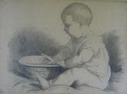2315/ Bleistift, ~1910, H.Kipp unsign. (Zertifikat), 59x42cm, EUR 50,-