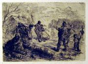 1127/ Radierung, 1895, sign. Ernst Zimmermann, Blatt 56x45cm, unten 5cm Riss, EUR 35,-EUR 90,-