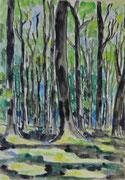2184/ Wald, 1992, sign. Lorette Peltz, Din A3, EUR 80,-