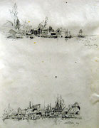 2277/ Bleistift, 1973, Norwegen, Peter Schadwinkel unsign. (Zertifikat), 27x35cm, EUR 15,-