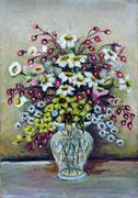 2470/ Blumen, 1961, P.Schadwinkel unsigniert (Zertifikat), 30x46cm, 50,-