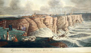 3728/ Kolorierter Stich, 1830, Helgoland, Druck C.P.Suhr, Rahmen 69x50cm, EUR 280,-
