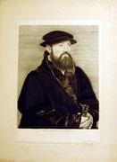 1199/ Radierung ~1900, nach Holbein, G.Truhe, 37x28cm, EUR 20,-