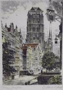 3154/ Farbradierung, ~1930, Danzig, sign. D.Bruck, 30x40cm, EUR 20,-