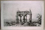 0775/ Radierung,~1900, Koubba de Sidi-Bouisrack, Niel/Liénard, 42x28cm, stockfleckig, EUR 15,-