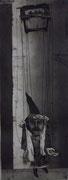 3193/ Radierung, ~1960, Puppenspiel, sign. Kessel, 32x75cm, EUR 40,-