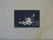 2363/ Holzschnitt, 1919, sign. E.F.Hübner, Wasserflecken, 26x19cm, EUR 30,-