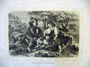 2361/  Druck aus Kunstbuch, ~1900, Hirtenkinder im Albanergebirge, C.Zimmermann, Blatt 20x26cm, EUR 25,-