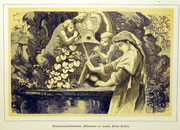 1144/ Druck aus Kunstbuch, ~1900, Mädchen in Rom, C.Zimmermann X.A., Blatt 20x26cm, Stockflecken, EUR 15,-