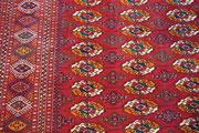 tappeto bukara russo originale con frange lunghi, buchara russo (Turkemenistan)