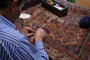 laboratorio tappeti udine, Restauro tappeto antico e vecchio usato e anti tarme