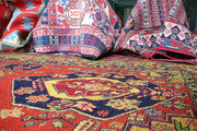 Tappeti nomadi Udine, kilim, sumak disegno geometrico, tessuti persiani