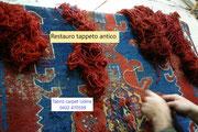 tappeti Trieste, restauro tappeto antico Trieste, restauro tappeto Caucasico antico Trieste