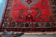 riparazione frange tappeti persiani udine, frange rovinato prima da riparazione