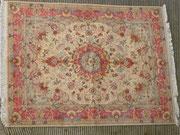 tabriz carpet, tappeto persiano tabriz extra fine lana misto seta misura 205x150