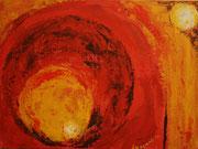Rollo - Rollo rot, Acryl auf malkarton, 30 x 40 cm, Susanna Schürch 2012