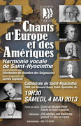 Mai 2013: Chants d'Europe et des Amériques