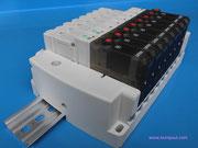 KOMPAUT - Plug-in type 5 port pilot type solenoid valve