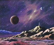 Der Maler und sein Universum, 50x60, Öl auf Leinwand