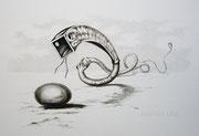 Das Runde und das Eckige, 30x40, Bleistift auf Papier