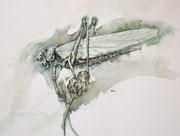 Grashüpfer, 30x40, Aquarell auf Papier