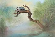 Aussteiger-Illustration, 35x50, Aquarell auf Papier