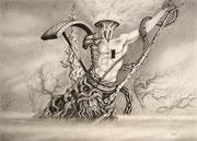 Ausgebrannt, 30x40, Bleistift auf Papier