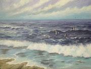 An der Ostsee, 30x40, Öl auf Leinwandplatte