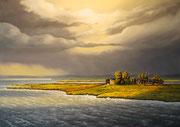 An der Wismarer Bucht, 50x70, Öl auf Leinwandplatte