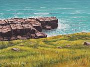 Felsenküste, 30x40, Öl auf Leinwandplatte