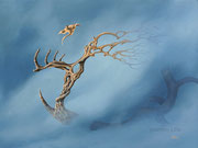Blauer Nebel, 30x40, Acryl auf Leinwand