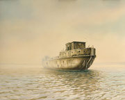 Das Betonschiff, 40x50, Öl auf Ölmalpapier