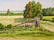 Mecklenburger Landschaft, 24x32 Aquarell auf Papier