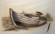 Bootswrack, 40x50, Öl auf Malplatte