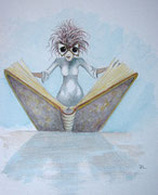 Märchenbuch-Illustration, A4, Aquarell auf Papier