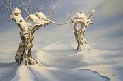 Wintertraum, 40x60, Öl auf Malplatte
