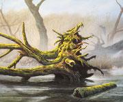 Im Sumpfwald, 50x60, Acryl auf Malplatte