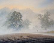 Morgennebel, 40x50, Öl auf Malplatte