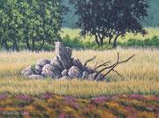 Steinhaufen, 30x40, Öl auf Leinwandplatte