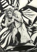 Glöckner-Illustration, A4, Bleistift auf Papier