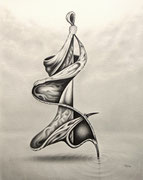 Optimist, 40x30, Bleistift auf Papier