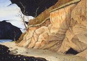 Fernes Ufer, 35x50, Aquarell auf Papier