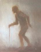 Schattenmann, 32x24, Öl auf Leinwand